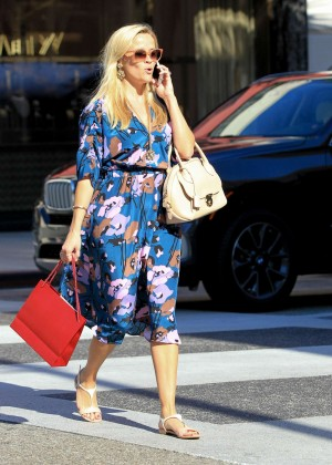 Reese Witherspoon in Floral Dress out in LA