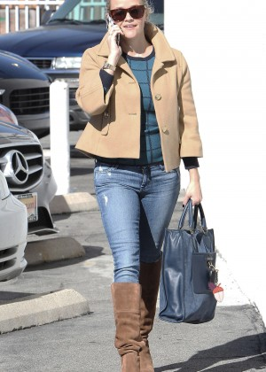 Reese Witherspoon in Jeans Out in Brentwood
