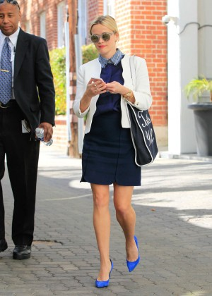 Reese Witherspoon in Mini Dress out in Los Angeles