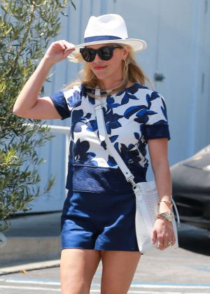 Reese Witherspoon in Shorts out in Brentwood