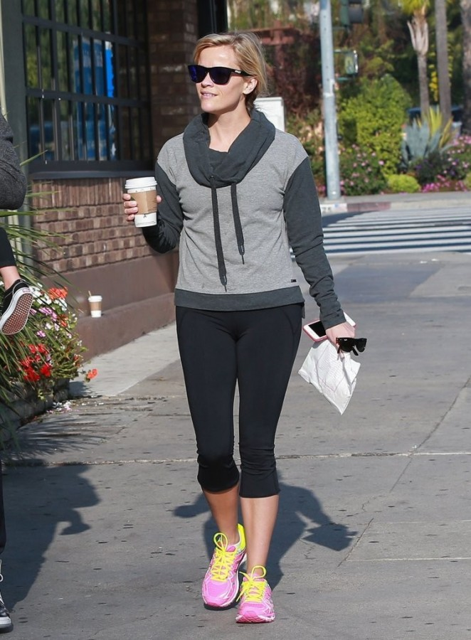 Reese Witherspoon in Spandex out in Santa Monica