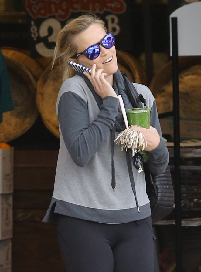 Reese Witherspoon in Tights out in Brentwood