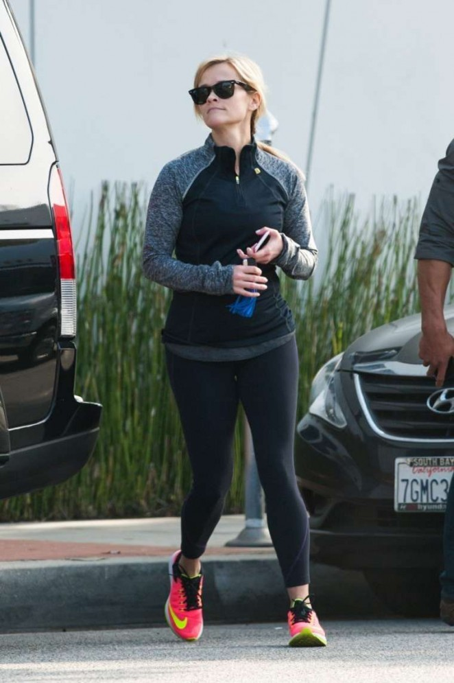 Reese Witherspoon in Tights out in LA