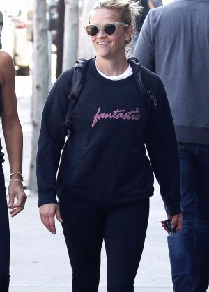 Reese Witherspoon - Leaving a workout in Los Angeles