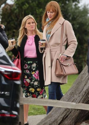 Reese Witherspoon, Meryl Streep and Nicole Kidman - Filming 'Big Little Lies' in Monterey