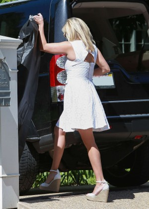 Reese Witherspoon in White Dress at Party in Bel Air