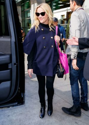 Reese Witherspoon - Seen Leaving Her Hotel in NYC