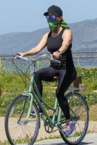 Reese Witherspoon - Seen on a bike ride in Malibu