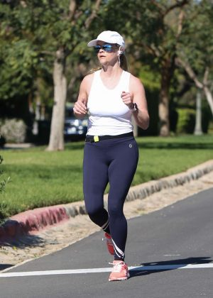 Reese Witherspoon - Spotted Jogging in Brentwood