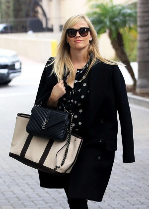 Reese Witherspoon visiting her office in Beverly Hills