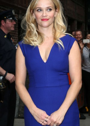 Reese Witherspoon - Visits the 'Late Show with David Letterman' in NYC