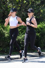 Reese Witherspoon with Ava - Jogging candids