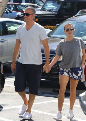 Reese Witherspoon with her husband out in Beverly Hills