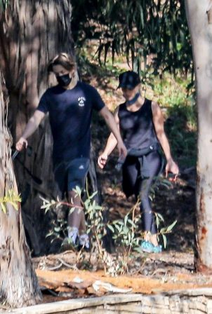 Reese Witherspoon - with her son Deacon while on a hiking session near their Palisades home
