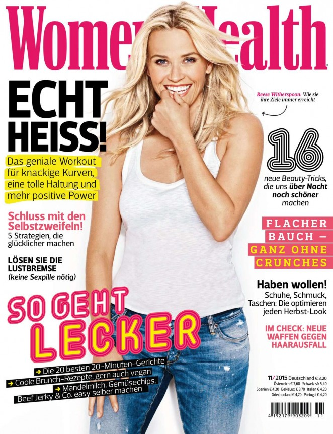Reese Witherspoon - Women's Health Germany (November 2015)