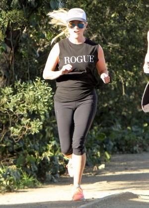 Reese Withserspoon jogging in Los Angeles