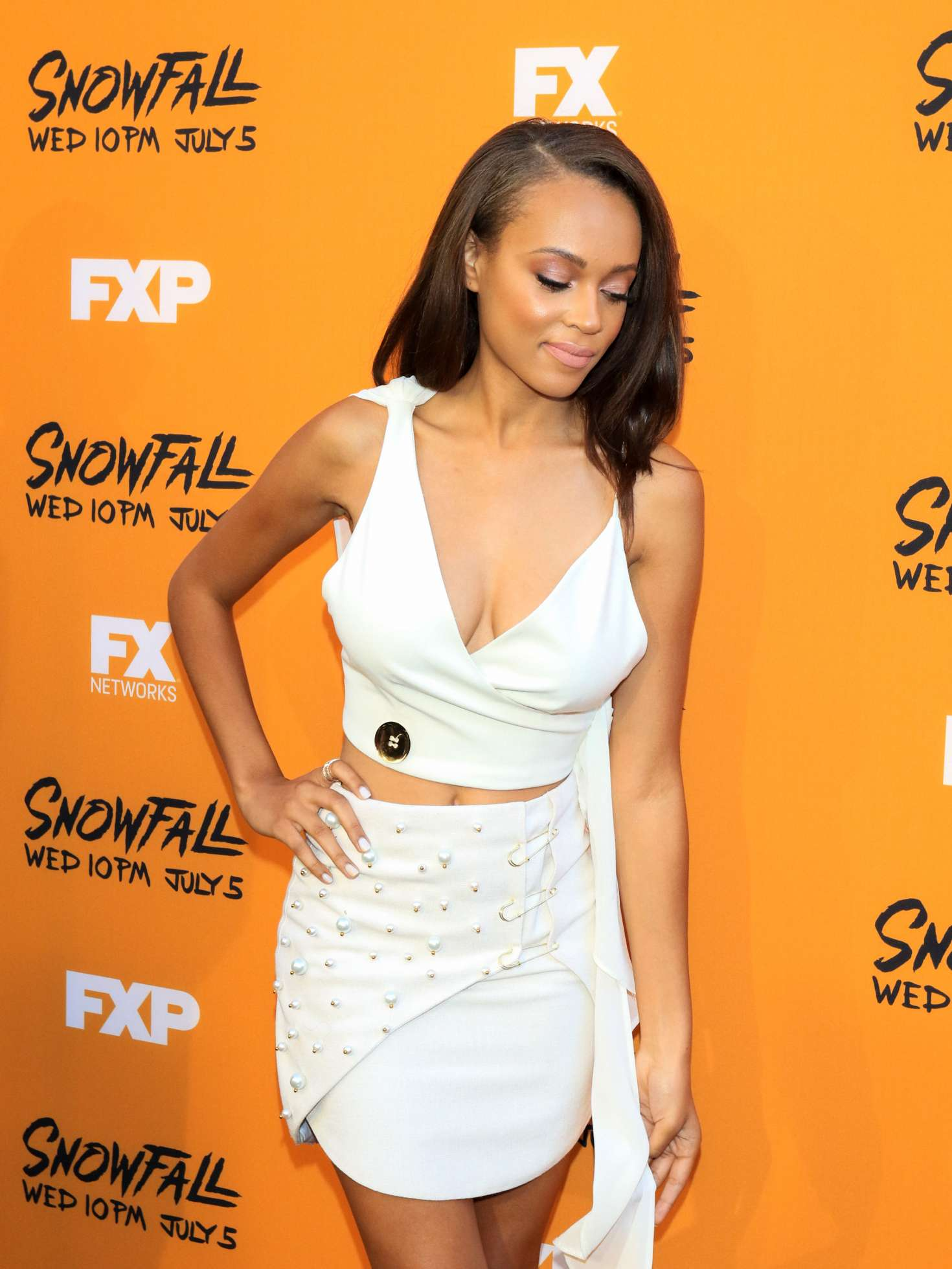 Reign Edwards: Snowfall Premiere in Los Angeles -05   GotCeleb