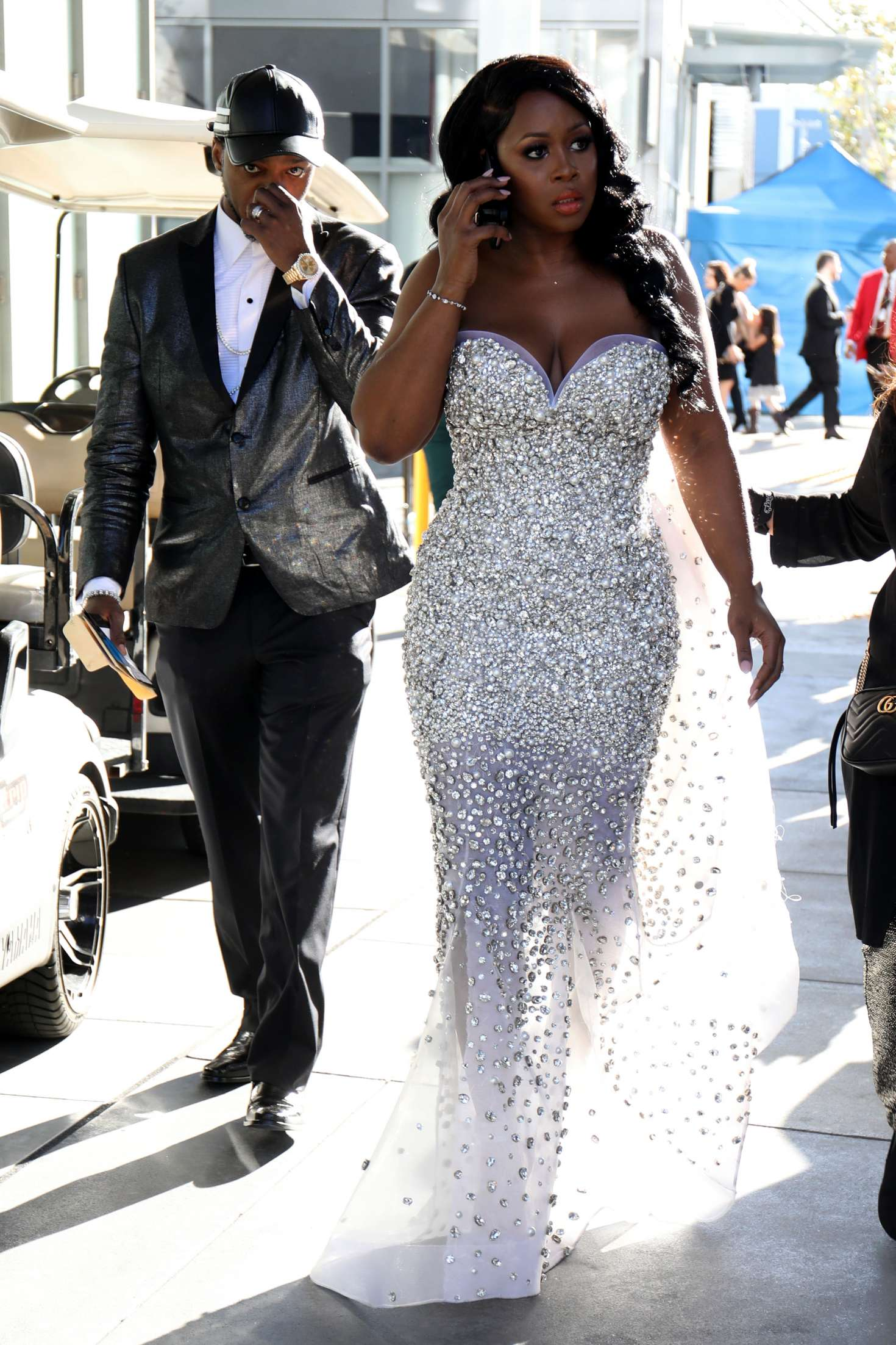 Remy Ma In White Dress Out In Los Angeles Gotceleb