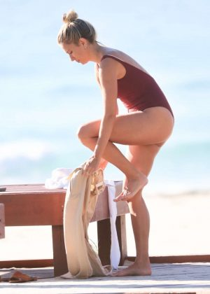 Renee Bargh - Bikini candids at the Gold Coast