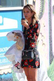 Renee Bargh in Floral Mini Dress - Out in Bondi