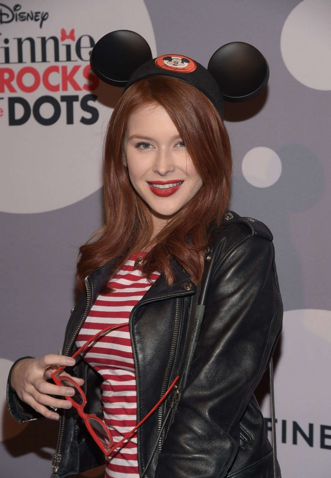 Renee Olstead: Minnie Mouse Rocks The Dots Art And Fashion Exhibit -02