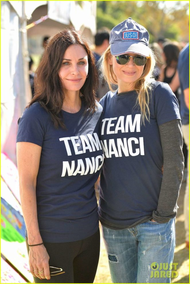 Renee Zellweger and Courteney Cox walked in support of publicist Nanci Ryder as 'Team Nanci' in LA