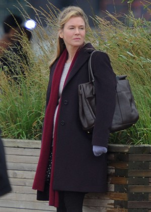 Renee Zellweger - Filming new Bridget Jones Movie in London