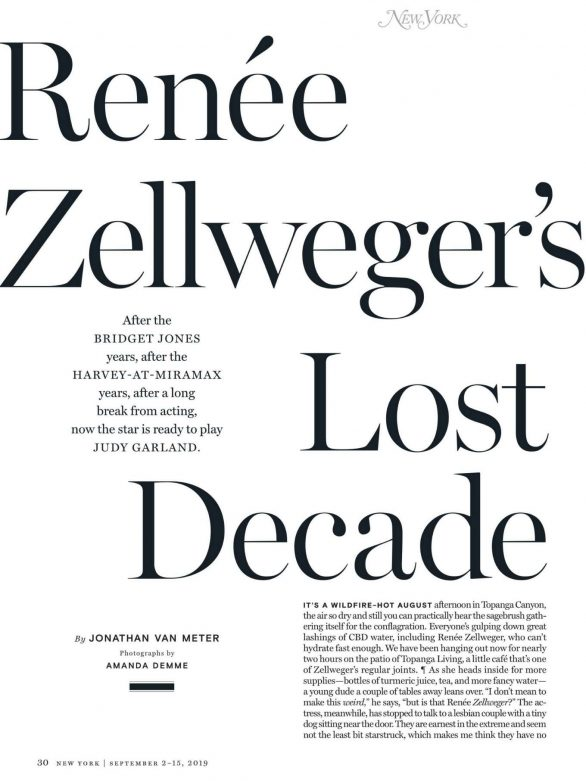 Renee Zellweger - New York Magazine 2019-06 | GotCeleb