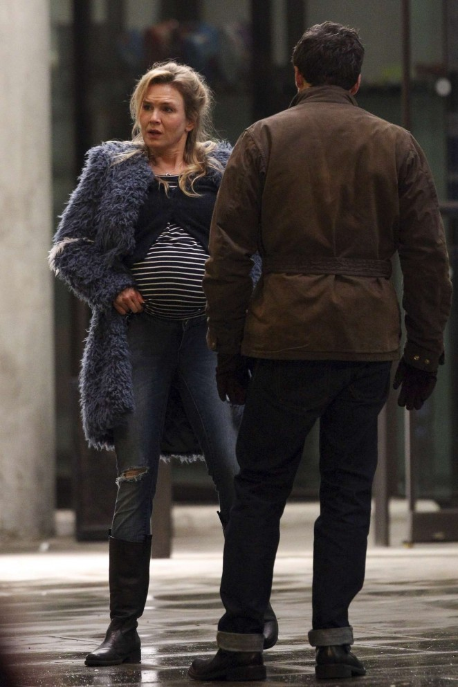 Renee Zellweger on the set of 'Bridget Jones's Baby' in London