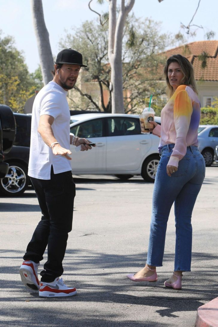Rhea Durham and Mark Wahlberg - Out in Beverly Hills