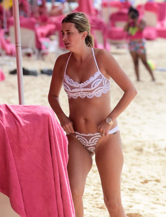 Rhea Durham in Bikini on vacation in Barbados