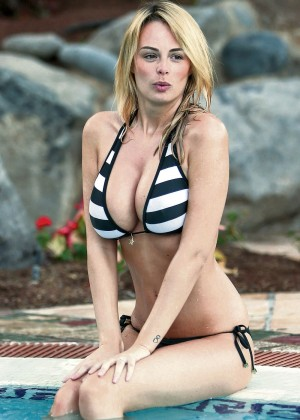 Rhian Sugden in Bikini in Tenerife