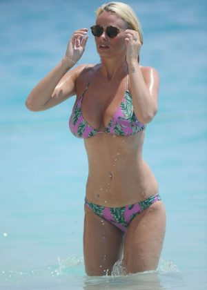 Rhian Sugden in Bikini on holiday in Kalkan