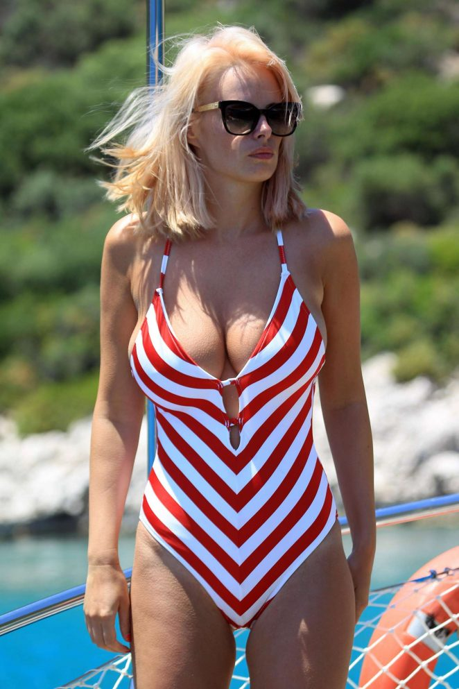 Rhian Sugden in Swimsuit on holiday in Turkey