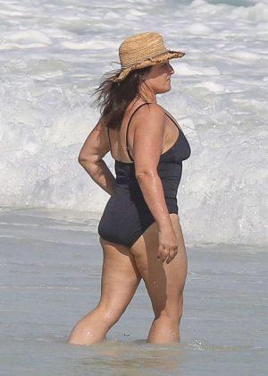 Ricki Lake in Black Swimsuit in Cancun