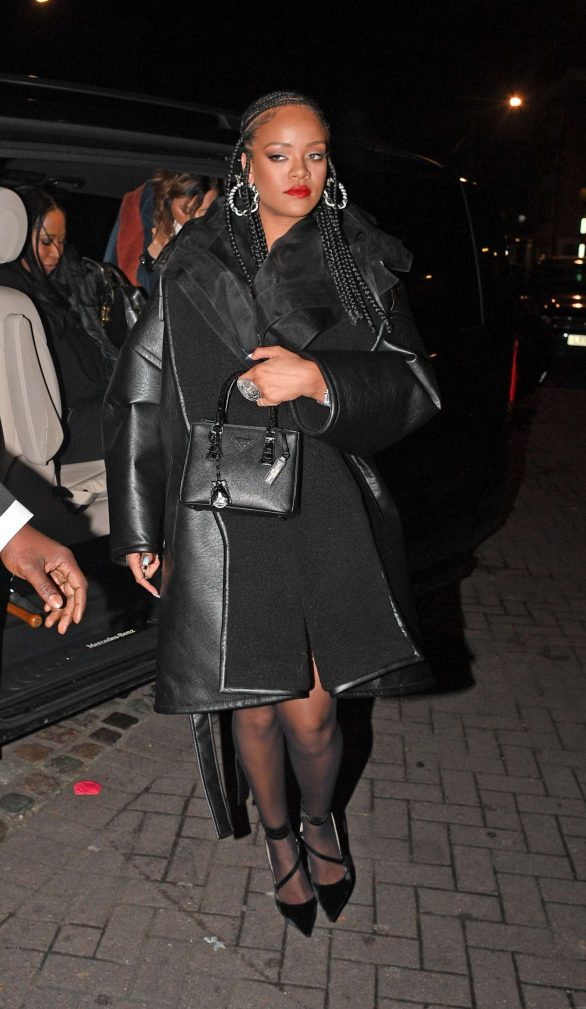 Rihanna - Aarriving at Laylow Nightclub in London