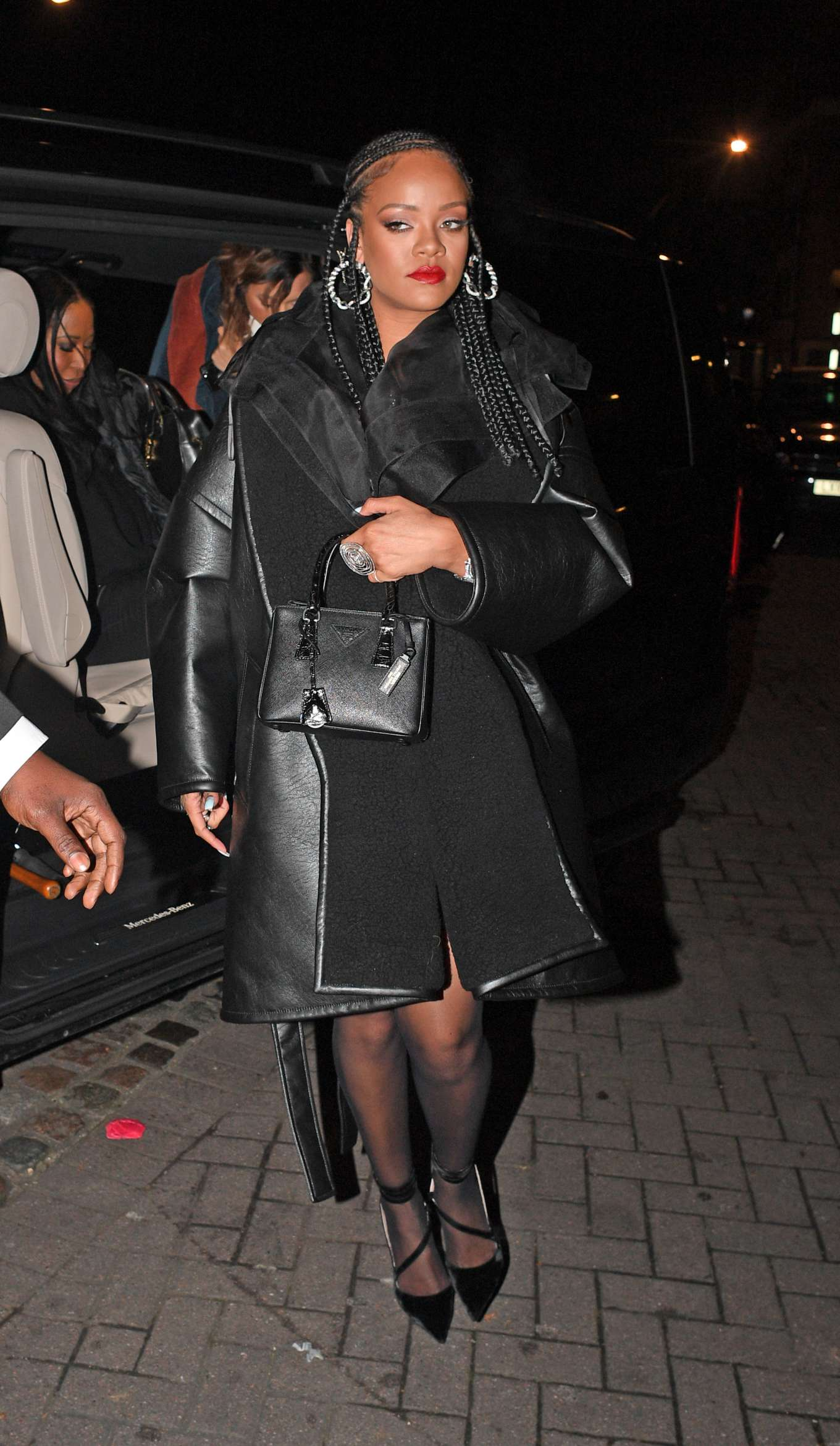 Rihanna - Aarriving at Laylow Nightclub in London