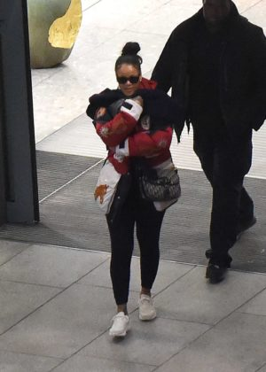Rihanna - Arrives at Heathrow Airport in London