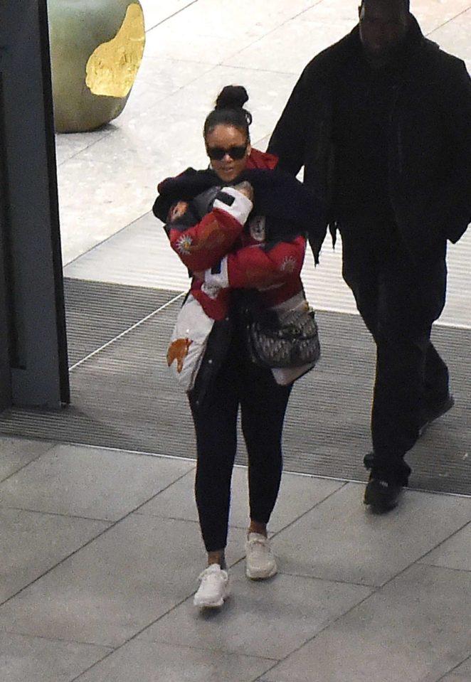 Rihanna - Arrives at Heathrow Airport in London