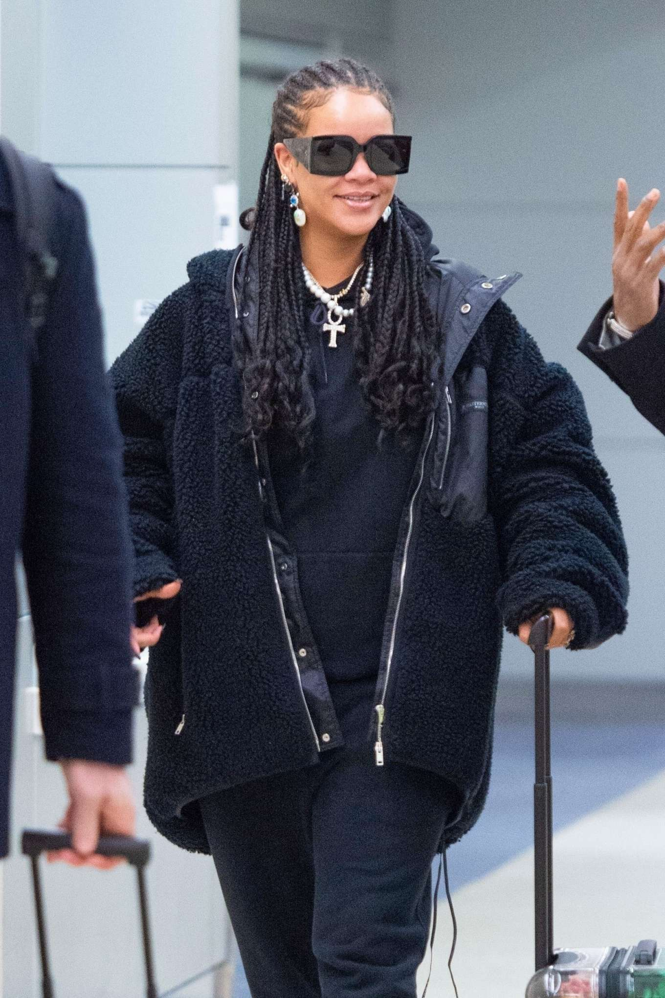 Rihanna - Arrives at JFK Airport in New York City