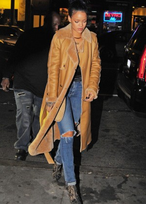 Rihanna in Jeans at Sono Nightclub in the West Village