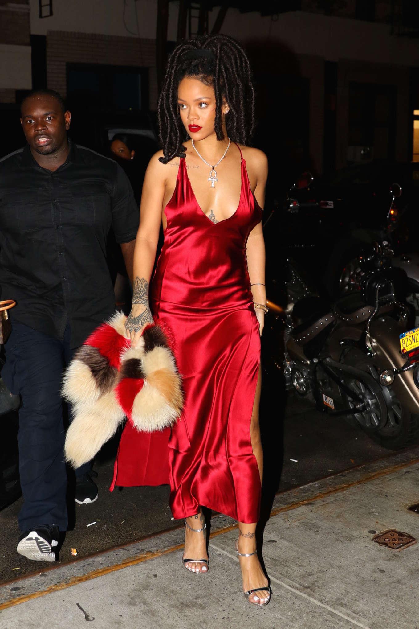 Rihanna In Red Dress 03 Gotceleb