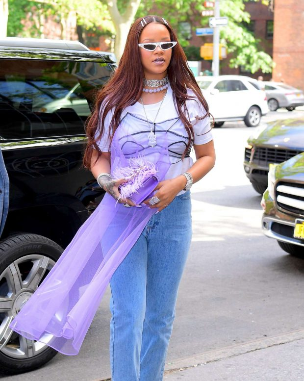 Rihanna - Arriving to her Goddaughter's 5th Birthday Party in New York