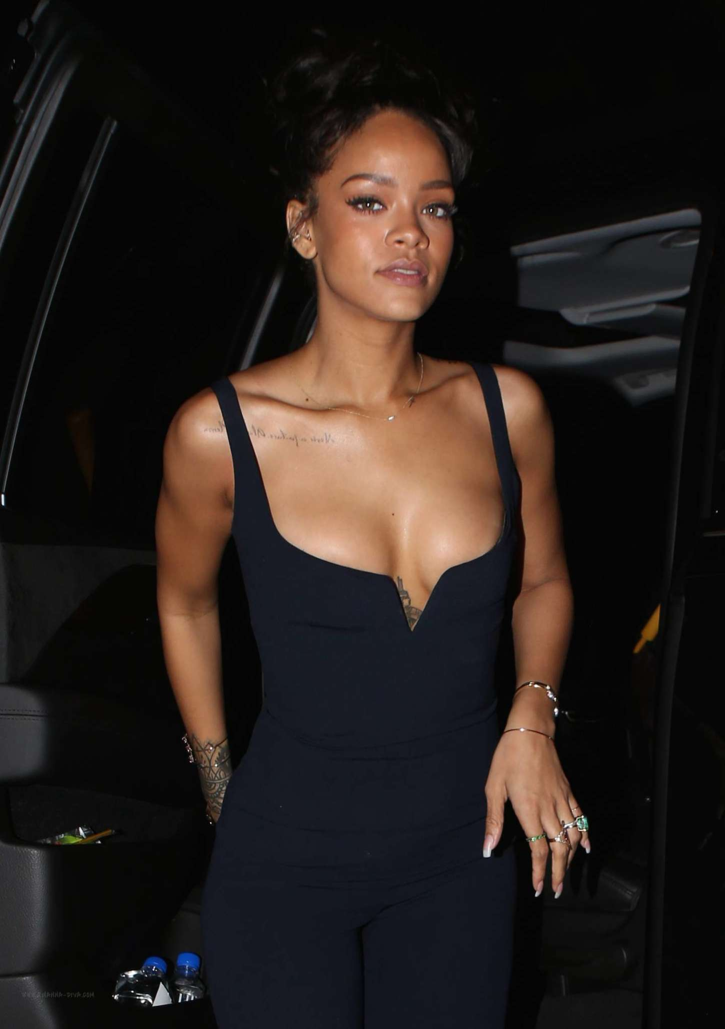 Rihanna at 1OAK Nightclub in LA