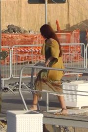 Rihanna at a boat trip in Capri