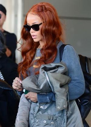 Rihanna at Airport in Miami