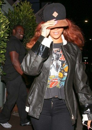 Rihanna at Giorgio Baldi in Santa Monica