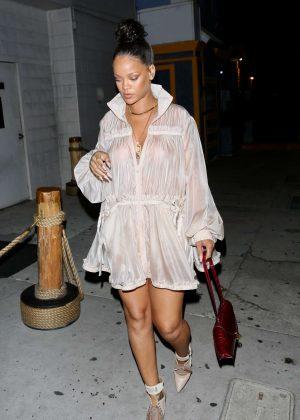 Rihanna at Giorgio Baldi in Santa Monica