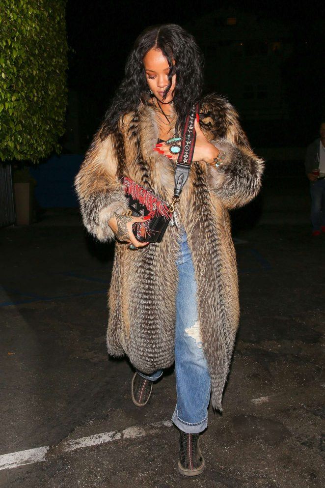 Rihanna at Giorgio Baldi Restaurant in Santa Monica