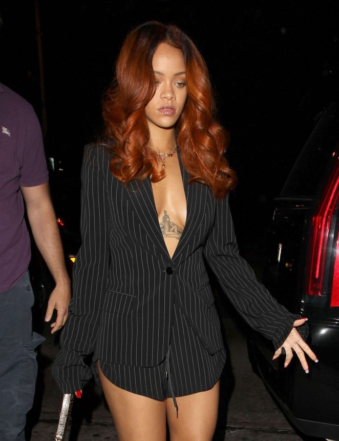 "Rihanna at ""Hooray Henry's"" Nightclub in LA"
